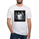 Alaskan Malamute Winter Desig Fitted T-Shirt