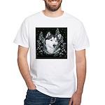 Alaskan Malamute Winter Desig White T-Shirt