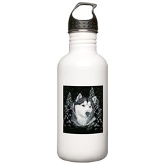 Alaskan Malamute Winter Desig Water Bottle