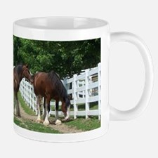 """clydesdale horses"" Mug"