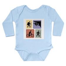 Multi Sport Guy Long Sleeve Infant Bodysuit