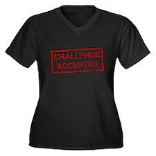 Challenge Accepted Women's Plus Size V-Neck Dark T