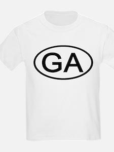 Georgia - GA - US Oval Kids T-Shirt