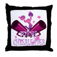Future Cheerleader Throw Pillow