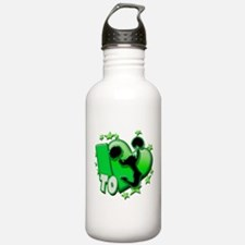 I Love To Cheer (Green) Water Bottle