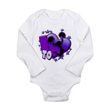 I Love To Cheer (Purple) Long Sleeve Infant Bodysu