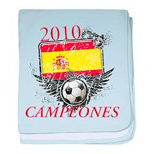 2010 Spain Campeones baby blanket