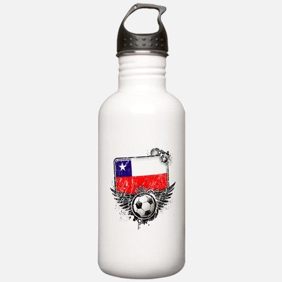 Soccer Fan Chile Water Bottle