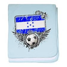 Soccer Fan Honduras baby blanket