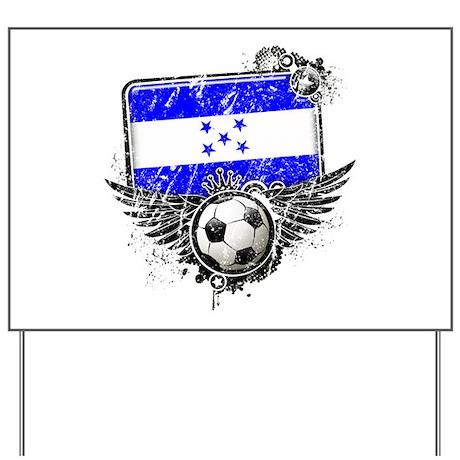 Soccer Fan Honduras Yard Sign