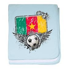 Soccer Fan Cameroon baby blanket