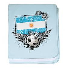 Soccer Fan Argentina baby blanket