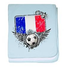 Soccer Fan France baby blanket