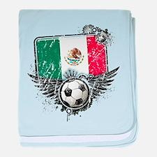 Soccer Fan Mexico baby blanket