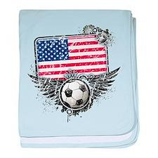 Soccer Fan United States baby blanket