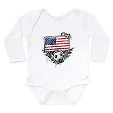Soccer Fan United States Long Sleeve Infant Bodysu