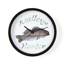Walleye Hunter Wall Clock