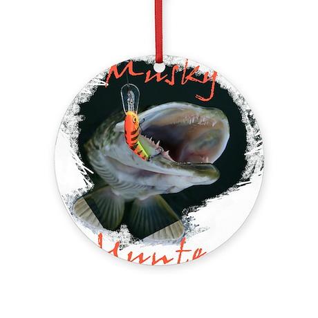 Musky Hunter Ornament (Round)