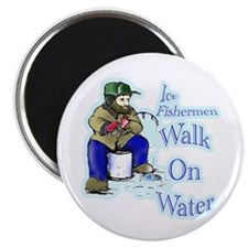 """Ice fishing 2.25"""" Magnet (10 pack)"""
