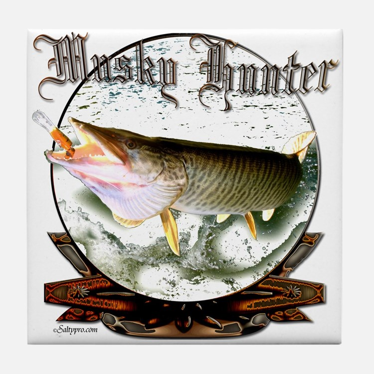 Musky Hunter Tile Coaster