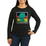 Germany Map Women's Long Sleeve Dark T-Shirt