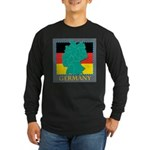 Germany Map Long Sleeve Dark T-Shirt