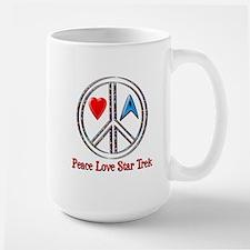 Peace Love Star Trek Large Mug