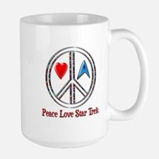 Peace Love Star Trek Mug