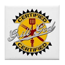Certified Grill God Tile Coaster