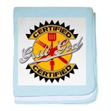 Certified Grill God baby blanket