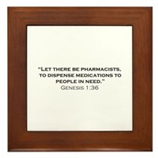 Pharmacists / Genesis Framed Tile