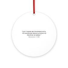 Pharmacists / Genesis Ornament (Round)