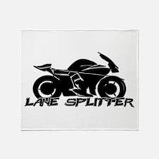 Lane Splitter Throw Blanket