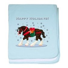 Christmas Clydesdale baby blanket