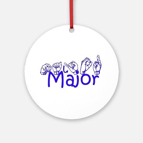 Major Ornament (Round)