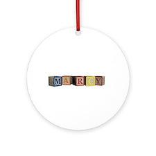 Marcy Alphabet Block Ornament (Round)