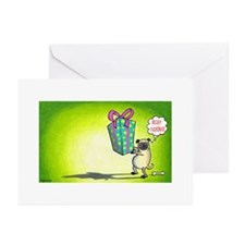 Cute Pug christmas Greeting Cards (Pk of 10)