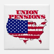 Union Pensions Tile Coaster