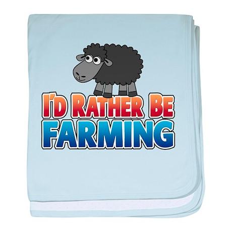 Cartoon Farmville Sheep baby blanket