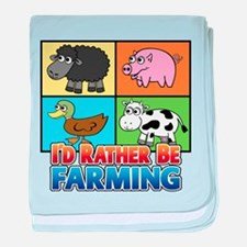 FARMING - Multiple Animals baby blanket
