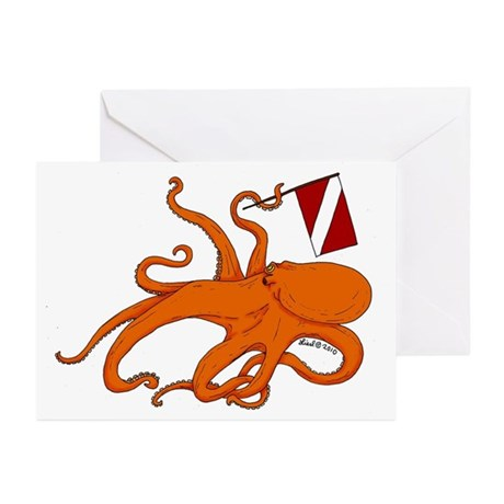 Octopus Greeting Cards (Pk of 20)