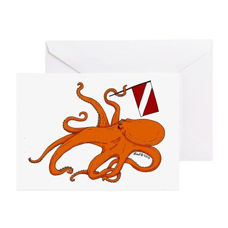 Octopus Greeting Cards (Pk of 10)
