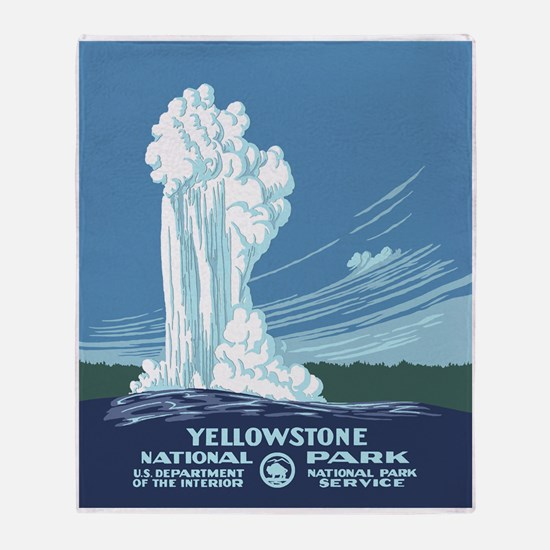 Yellowstone Travel Souvenir Throw Blanket