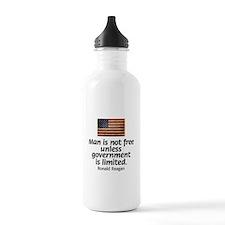 Man is not free unless... Sports Water Bottle