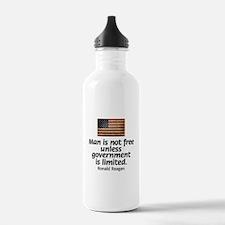 Man is not free unless... Water Bottle
