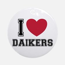 I Love Daikers Ornament (Round)