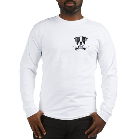 KiniArt Pocket Boston Long Sleeve T-Shirt