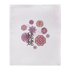 Maternal Grandma with Flowers Throw Blanket