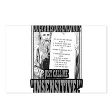 """JUST CALL ME """"INSENSITIVE!""""   Postcards (Package o"""