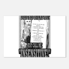 "JUST CALL ME ""INSENSITIVE!""   Postcards (Package o"
